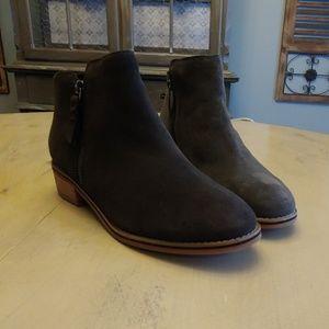 Womens Blondo Liam Waterproof Gray Suede Boots